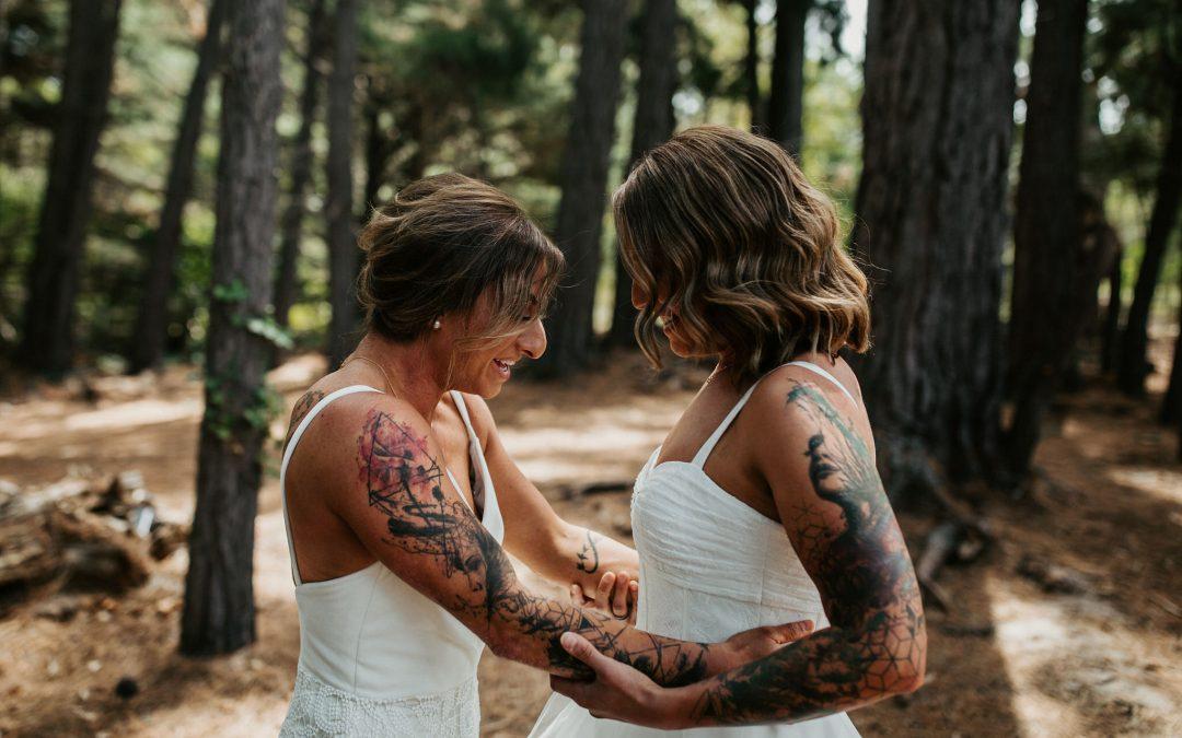REAL BRIDES: CHIARA + BIANCA